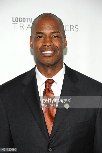 """Basketball player Jason Collins attends Logo TV's """"Trailblazers"""" at the Cathedral of St. John the Divine on June 23, 2014 in New York City."""