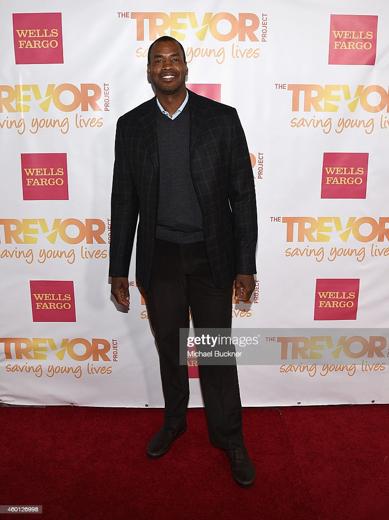 Basketball player Jason Collins attends 'TrevorLIVE LA' Honoring Robert Greenblatt, Yahoo and Skylar Kergil for The Trevor Project at Hollywood Palladium on December 7, 2014 in Los Angeles, California.