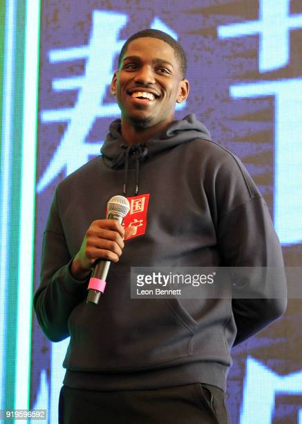 Basketball player Jawun Evans at the LiNing All Star Weekend at The Los Angeles Athletic Club on February 16 2018 in Los Angeles California