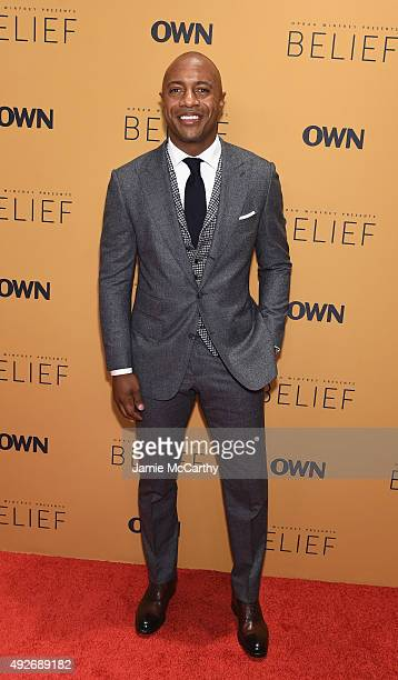 Basketball player Jay Williams attends the Belief New York premiere at TheTimesCenter on October 14 2015 in New York City