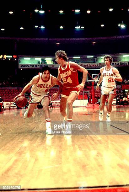 Basketball player Jerry Sloan of the Chicago Bulls on the court at Chicago Stadium Chicago Illinois 1972