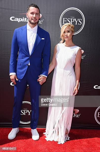 Basketball player JJ Redick and Chelsea Kilgore attend The 2015 ESPYS at Microsoft Theater on July 15 2015 in Los Angeles California