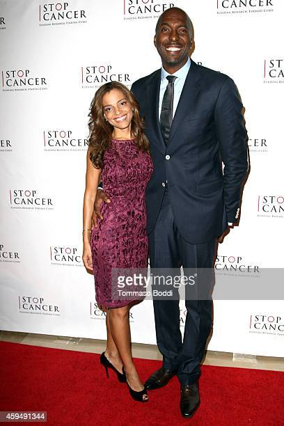 Basketball player John Salley and Natasha Duffy attend the STOP CANCER annual gala honoring Lori And Michael Milken held at The Beverly Hilton Hotel...