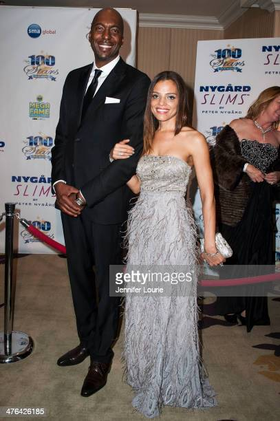 Basketball Player John Salley and wife Natasha Duffy attend Norby Walters' 24nd Annual Night of 100 Stars Oscar Viewing Gala at Beverly Hills Hotel...