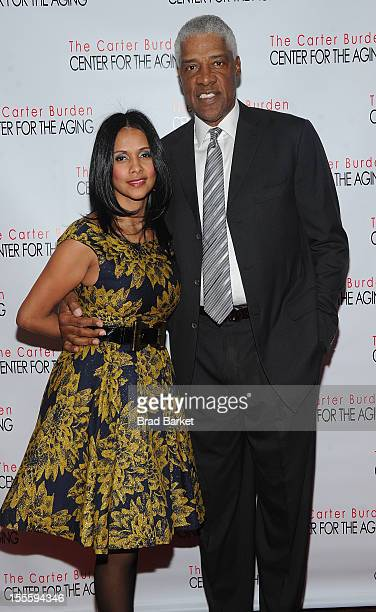 Basketball player Julius Erving and wife Dorys arrive at Erving The Carter Burden Center For The Aging 41st Anniversary Gala at Mandarin Oriental...