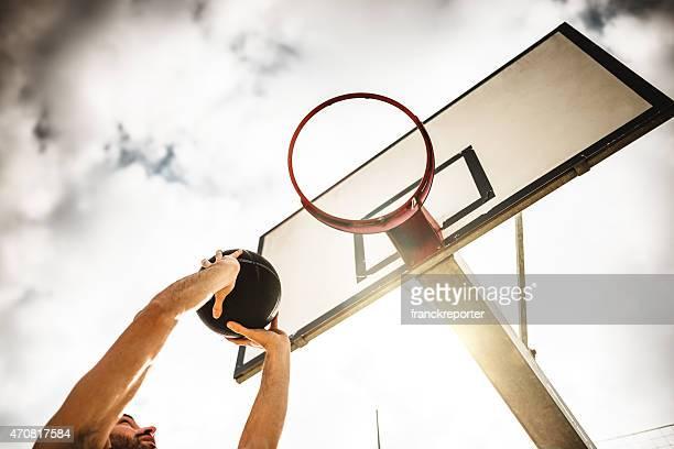 バスケットボール選手ジャンプを獲得できます。