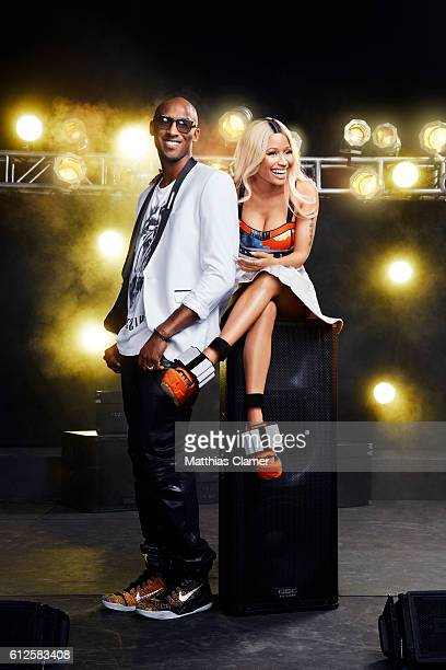 Basketball player Kobe Bryant and singer Nicki Minaji are photographed for ESPN Magazine The Music Issue on January 9 2014 in Los Angeles California
