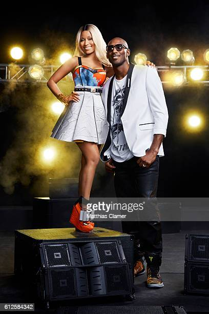 Basketball player Kobe Bryant and singer Nicki Minaji are photographed for ESPN Magazine The Music Issue on January 9 2014 in Los Angeles California...