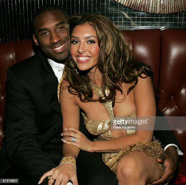 Basketball player Kobe Bryant and wife Vanessa at the official after party for the 2004 World Music Awards September 15 2005 at Body English in the...