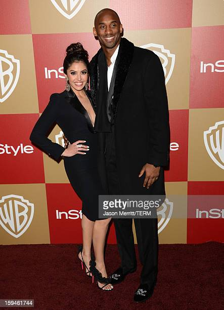 Basketball player Kobe Bryant and wife Vanessa Bryant attend the 14th Annual Warner Bros And InStyle Golden Globe Awards After Party held at the...