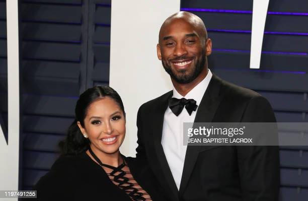 US basketball player Kobe Bryant and wife Vanessa Laine Bryant attend the 2019 Vanity Fair Oscar Party following the 91st Academy Awards at The...