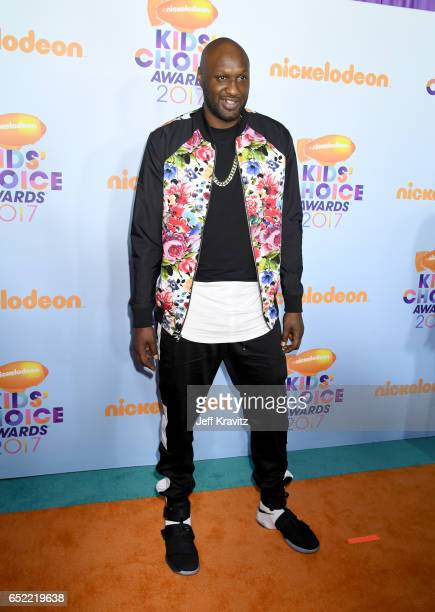 Basketball player Lamar Odom at Nickelodeon's 2017 Kids' Choice Awards at USC Galen Center on March 11 2017 in Los Angeles California