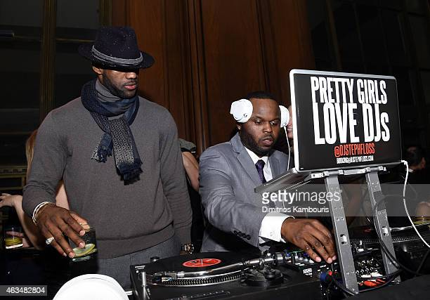 Basketball player LeBron James and DJ Steph Floss attend GQ and LeBron James Celebrate AllStar Style on February 14 2015 in New York City