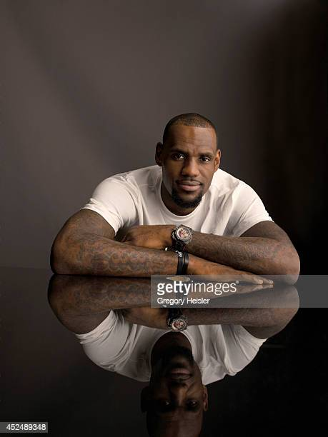 Basketball player LeBron James is photographed for Sports Illustrated on June 23 2012 in Miami Florida CREDIT MUST READ Gregory Heisler/Sports...