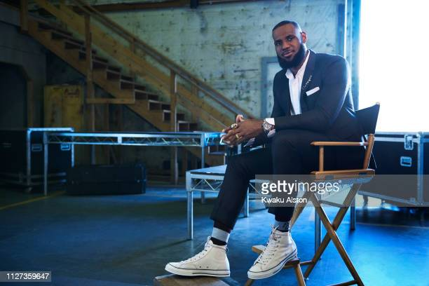 Basketball player LeBron James is photographed for The Hollywood Reporter on September 14, 2018 at Warner Brothers studio in Burbank, California....