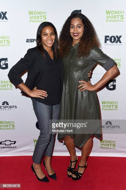 Basketball player Lindsey Harding and Surfer Mary Osborne attend the The Women's Sports Foundation's 38th Annual Salute To Women in Sports Awards...