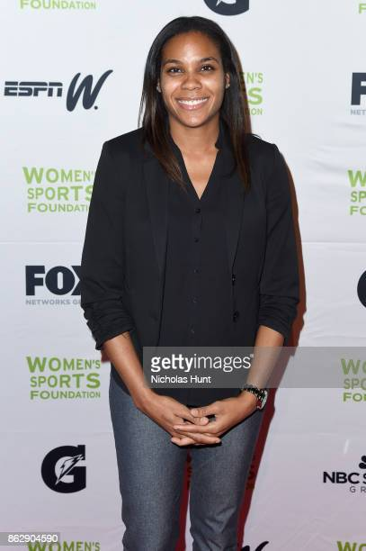 Basketball player Lindsey Harding attends the The Women's Sports Foundation's 38th Annual Salute To Women in Sports Awards Gala on October 18 2017 in...