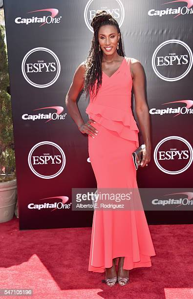 Basketball player Lisa Leslie attends the 2016 ESPYS at Microsoft Theater on July 13 2016 in Los Angeles California
