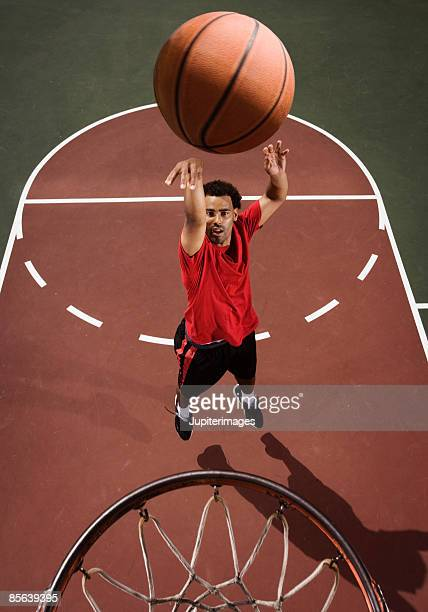 Basketball player making a jump shot