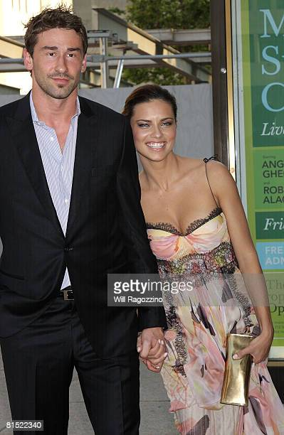 NBA basketball player Marko Jaric and model Adriana Lima arrives at the 3rd Annual American Ballet Theatre Noche Latina on June 10 2008 at...