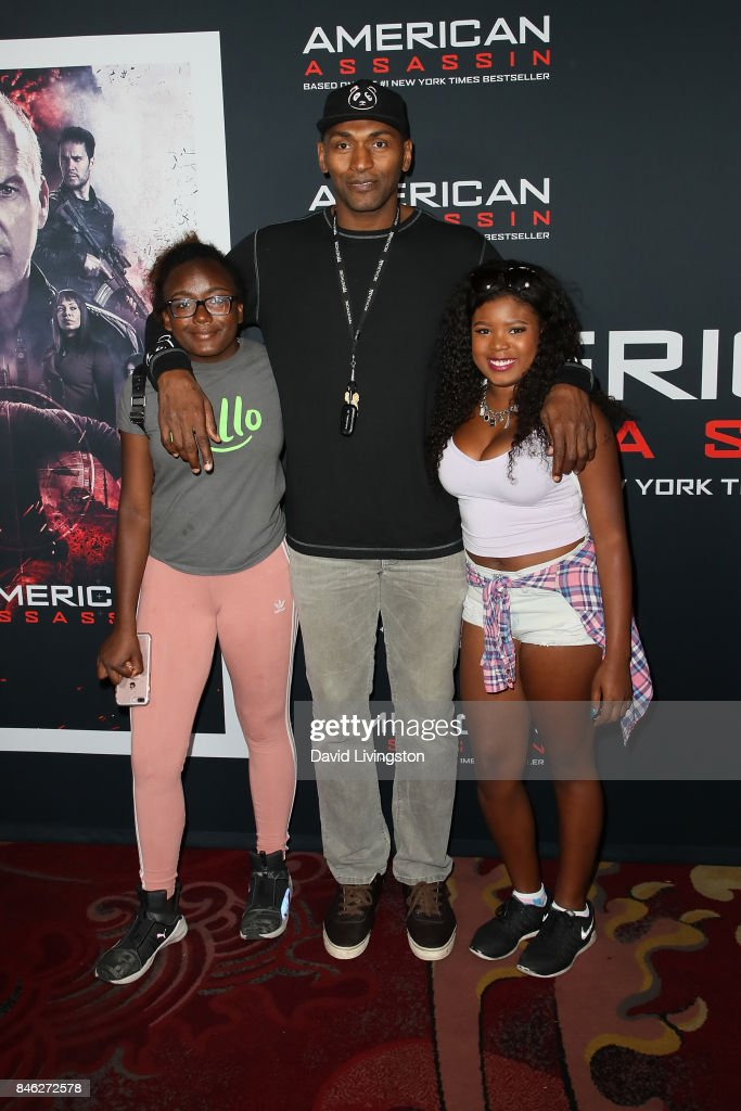 Basketball player Metta World Peace attends a Screening of CBS Films and Lionsgate's 'American Assassin' at TCL Chinese Theatre on September 12, 2017 in Hollywood, California.