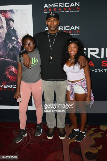 Basketball player Metta World Peace attends a Screening of CBS Films and Lionsgate's 'American Assassin' at TCL Chinese Theatre on September 12 2017...