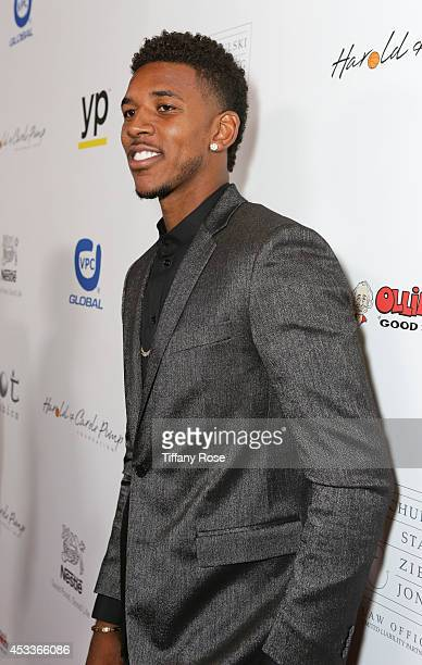Basketball player Nick Young attends the 14th Annual Harold Carole Pump Foundation Event on August 8 2014 in Los Angeles California