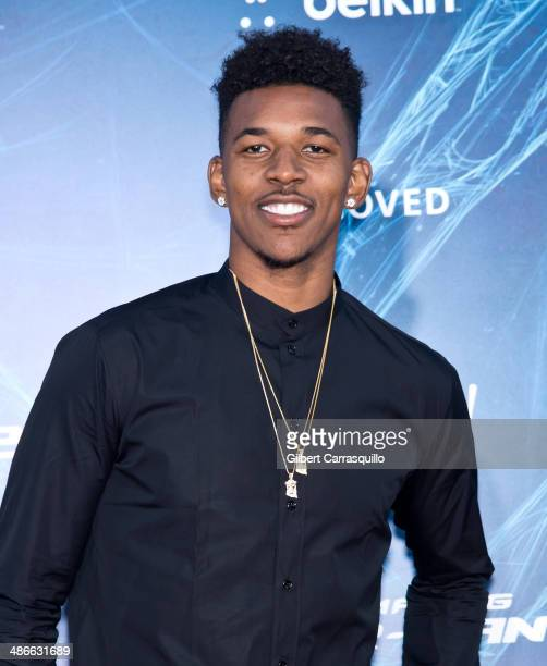 Basketball player Nick Young attends 'The Amazing SpiderMan 2' premiere at the Ziegfeld Theater on April 24 2014 in New York City
