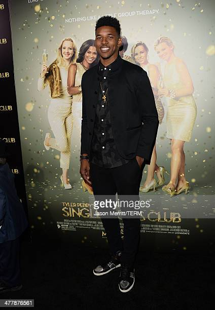 Basketball player Nick Young attends the premiere Of Tyler Perry's 'The Single Moms Club' at ArcLight Cinemas Cinerama Dome on March 10 2014 in...