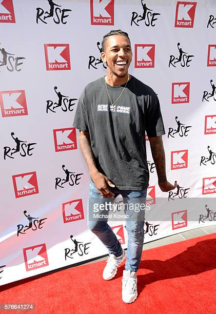 Basketball player Nick Young attends the Rise Challenge presented by Kmart at LA Live on July 16 2016 in Los Angeles California