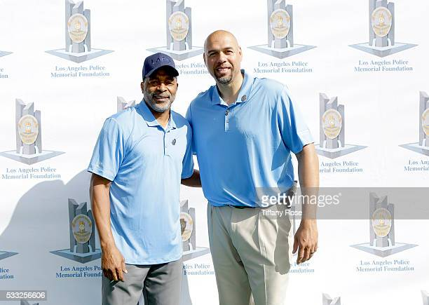 Basketball player Norm Nixon and Tracy Murraly attend the 44th Annual Los Angeles Police Memorial Foundation Celebrity Golf Tournament at Ron...