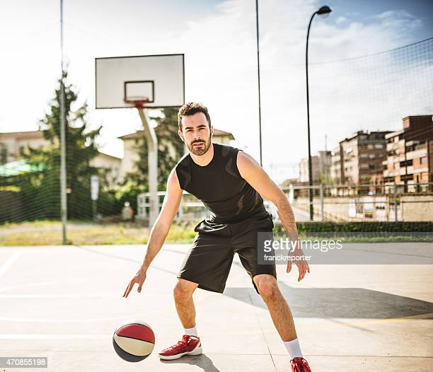 basketball player on the court