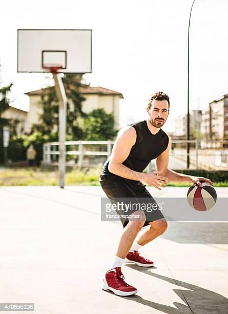 basketball-Spieler auf dem Spielfeld