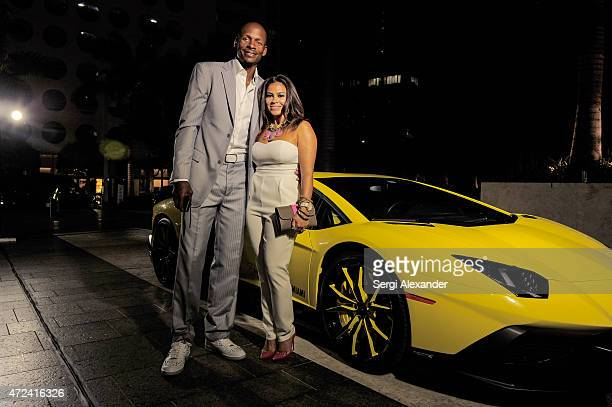 Basketball player Ray Allen and his wife Shannon Allen attend Haute Living Haute 100 Dinner presented by Dom Perignon at Tamarina at Brickell World...