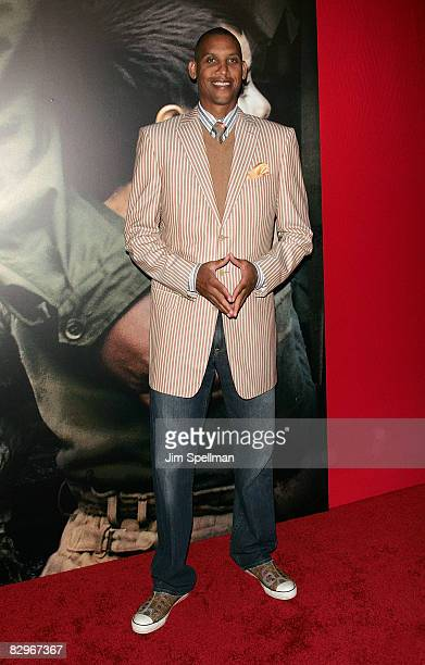 Basketball Player Reggie Miller attends the premiere of Miracle at St Anna at Ziegfeld Theatre on September 22 2008 in New York City