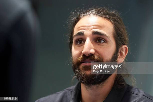 NBA basketball player Ricky Rubio attends to presentation of his Campus on June 22 2019 in Alcobendas Spain