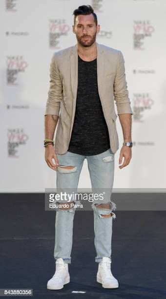 Basketball player Rudy Fernandez attends the 'Vogue fashion's Night Out' photocall at Ortega y Gasset street on September 7 2017 in Madrid Spain