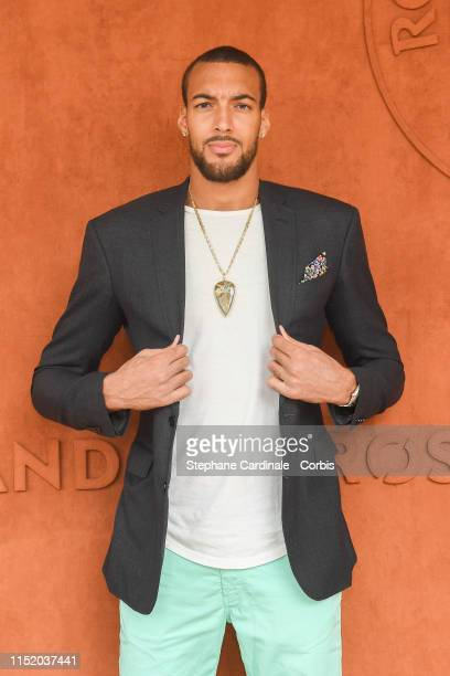 Basketball player Rudy Gobert attends the 2019 French Tennis Open Day Two at Roland Garros on May 27 2019 in Paris France