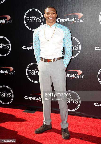 NBA basketball player Russell Westbrook attends the 2014 ESPY Awards at Nokia Theatre LA Live on July 16 2014 in Los Angeles California