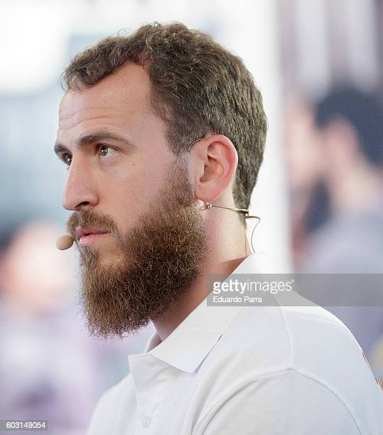 Basketball player Sergio Rodriguez AKA Chacho Rodriguez attends a Bridgestone event at Plaza Mayor on September 12 2016 in Madrid Spain