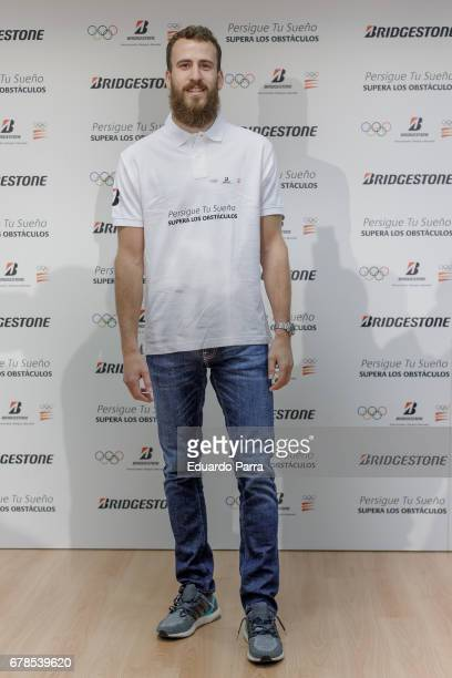 Basketball player Sergio Rodriguez AKA Chacho Rodriguez attends the 'Bridgestone all star' photocall at the CSD on May 4 2017 in Madrid Spain