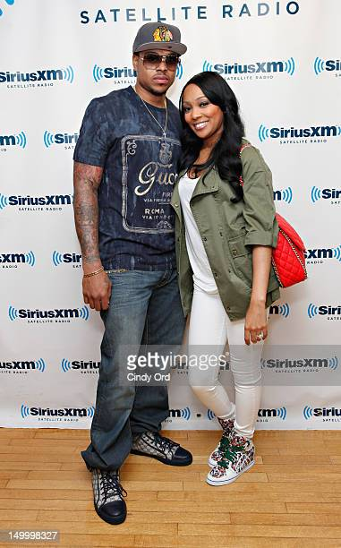 Basketball player Shannon Brown and his wife singer Monica visit SiriusXM Studio on August 8, 2012 in New York City.