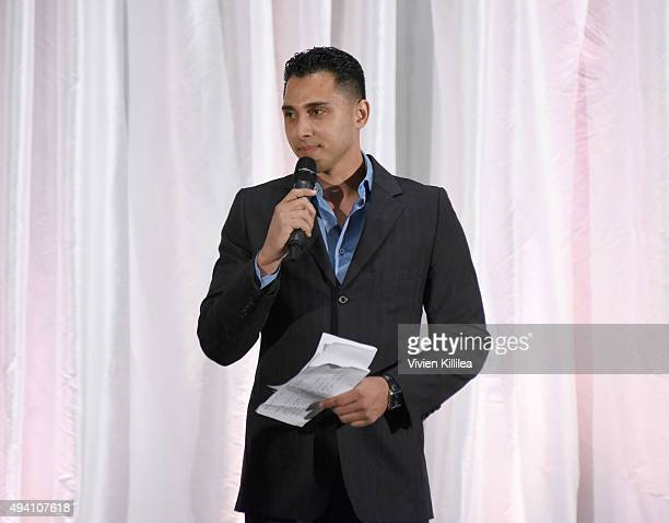 Basketball player Shawn Weinstein hosts the Pia Gladys Perey Spring/Summer 2016 Fashion Show at Sofitel Hotel on October 23 2015 in Los Angeles...