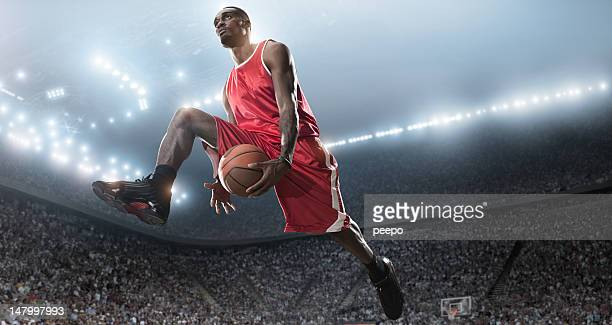 Basketball Player Shooting in Mid Air