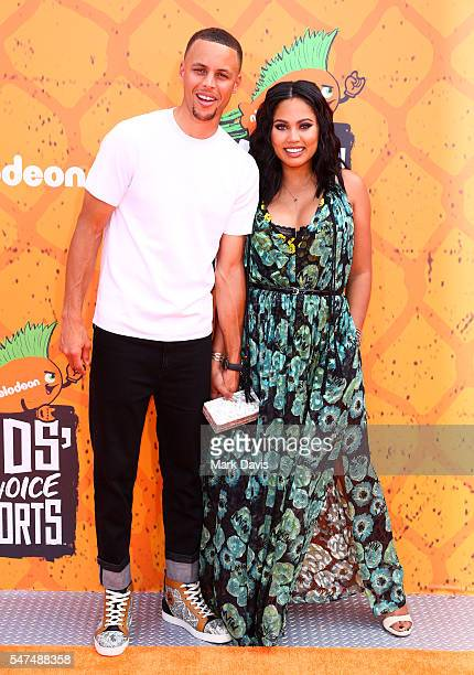 Basketball player Stephen Curry and Ayesha Curry attend the Nickelodeon Kids' Choice Sports Awards at UCLA's Pauley Pavilion on July 14 2016 in...