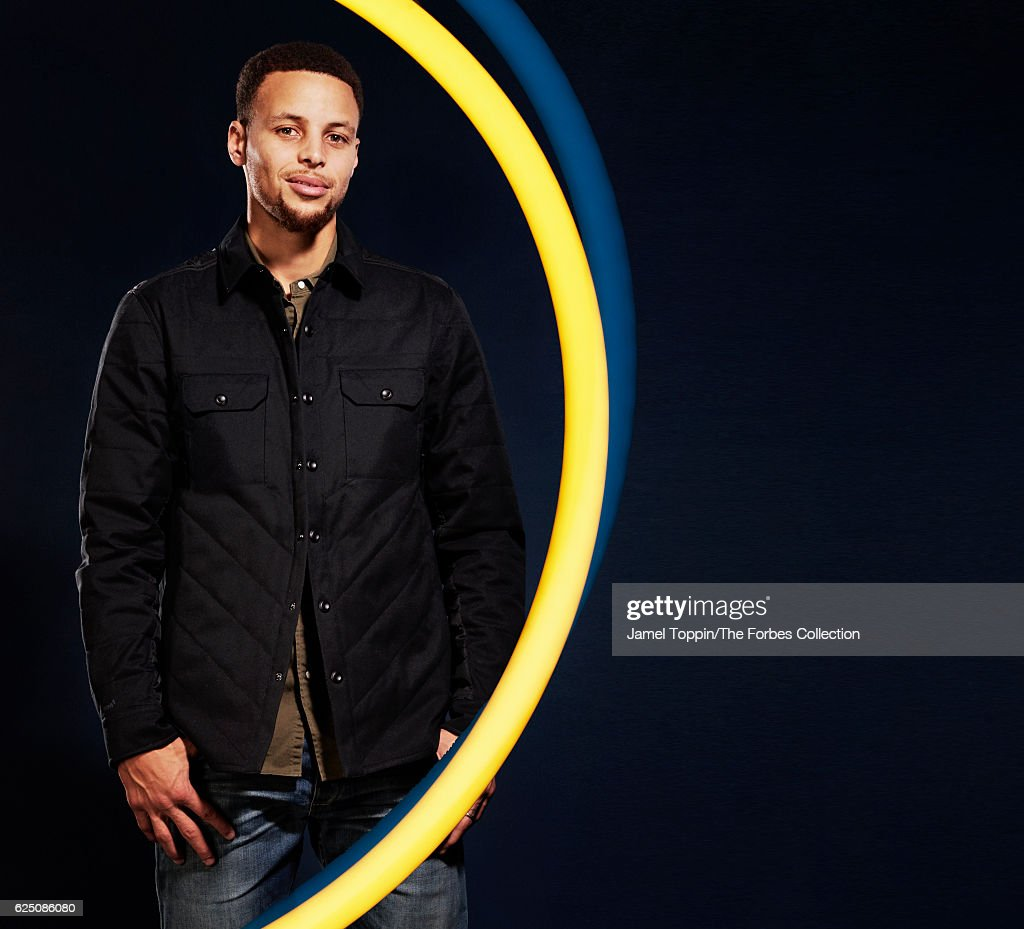 Basketball player Stephen Curry is photographed for Forbes Magazine in December 2015 in New York City.