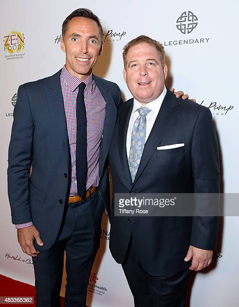 Basketball player Steve Nash and founder of the Harold Pump foundation David Pump attend the 15th annual Harold Carole Pump Foundation gala at the...