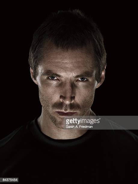 Basketball player Steve Nash poses at a portrait session in Los Angeles CA for Nike