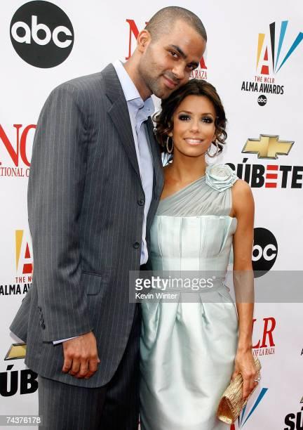 Basketball player Tony Parker and actress Eva Longoria arrive at the 2007 NCLR ALMA Awards held at the Pasadena Civic Auditorium on June 1, 2007 in...