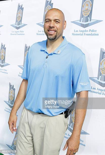 Basketball player Tracy Murray attends the 44th Annual Los Angeles Police Memorial Foundation Celebrity Golf Tournament at Ron Burkle's Estate on May...